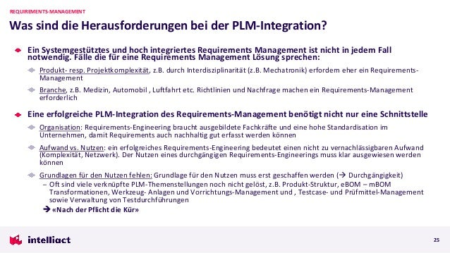 Ein Systemgestütztes und hoch integriertes Requirements Management ist nicht in jedem Fall notwendig. Fälle die für eine R...