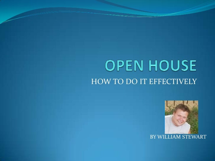 HOW TO DO IT EFFECTIVELY             BY WILLIAM STEWART