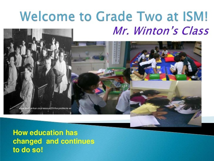 Welcome to Grade Two at ISM!Mr.Winton's Class<br />http://www.scottberkun.com/essays/29-the-problems-with-training/<br />H...