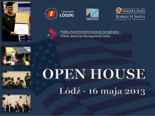 Polsko-Amerykańskie Centrum ZarządzaniaPolish-American Management Center