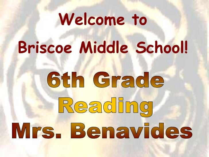 Welcome toBriscoe Middle School!