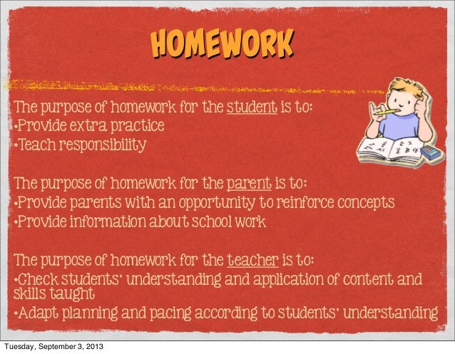 the purpose of homework
