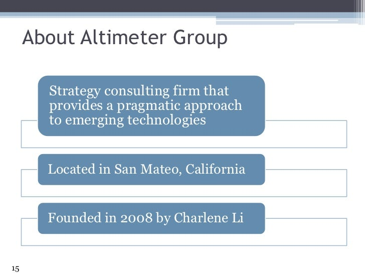 About Altimeter Group<br />15<br />