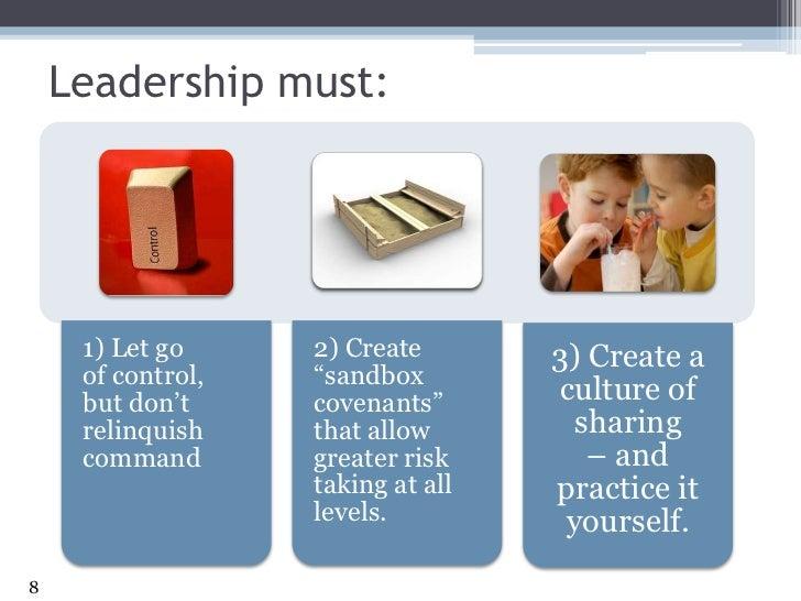 Leadership must:<br />8<br />