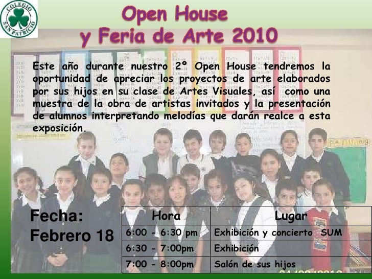 Open Housey Feria de Arte 2010<br />Este año durante nuestro 2º Open House tendremos la oportunidad de apreciar los proyec...