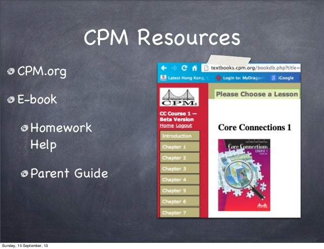 Math homework help cpm