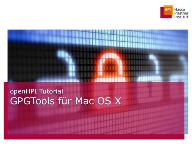 openHPI Tutorial GPGTools für Mac OS X