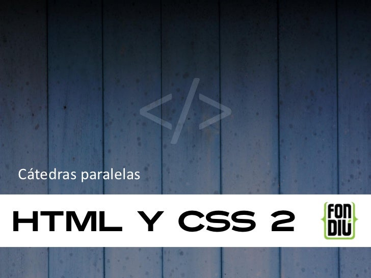 HTML y CSS 2