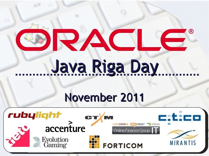 Java Riga Day November 2011