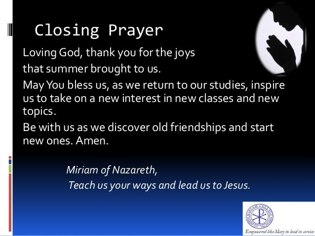 closing prayer Don't be caught speechless when asked to begin or end a meeting in prayer 150 opening and closing prayers includes prayers on celebration and.