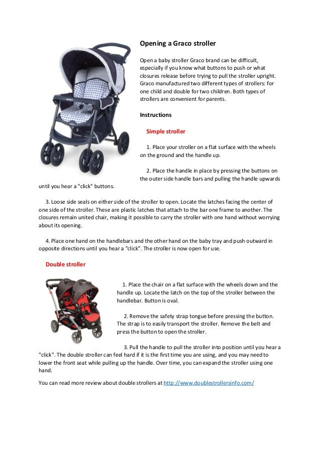 Opening a graco stroller