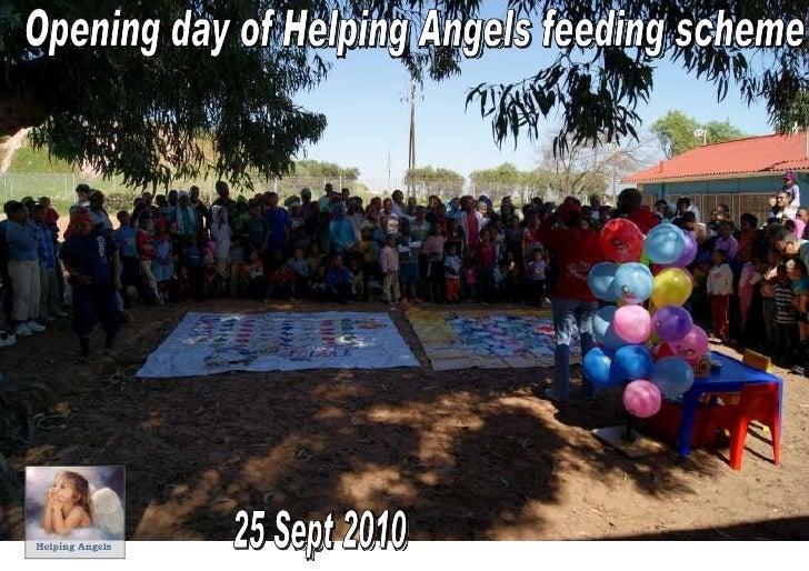 Opening of Saturday feeding scheme at Bottelary, 25 Sept 2010