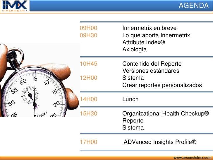 Opening Innermetrix 2010 Slide 2