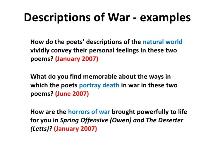 In Flanders Field Cold Commentary Essay