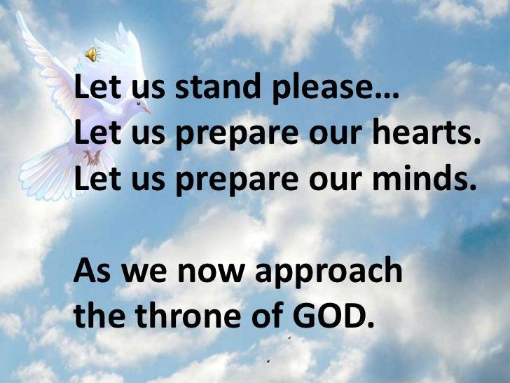 prayer before oral presentation