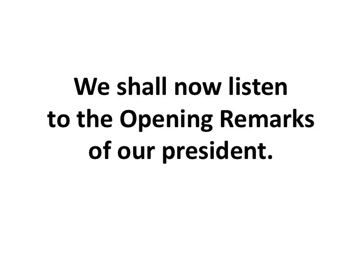 Opening prayer day 1