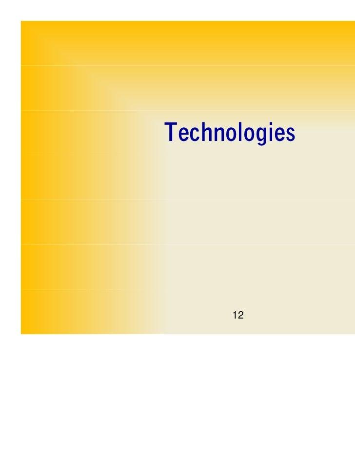 Technologies      12