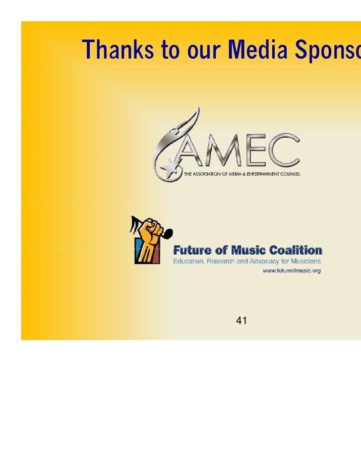 Thanks to our Media Sponsors              41