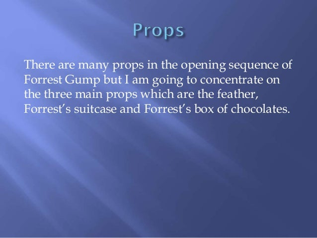 an comprehensive analysis of forrest gump Forrest gump: book summary, historical references & analysis analysis at its core, forrest gump offers a truism book summary, historical references.