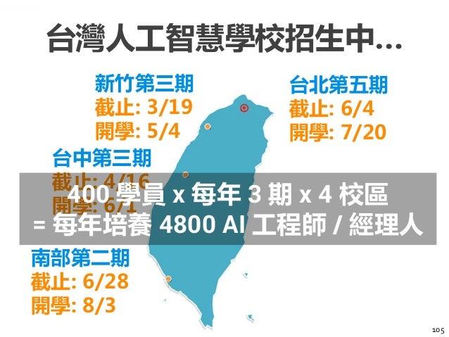 106 台灣人工 智慧學校 顧問諮詢 產學連結 技術推廣 社群交流 新創輔導 職涯發展 台灣人工智慧學校將不只是學校