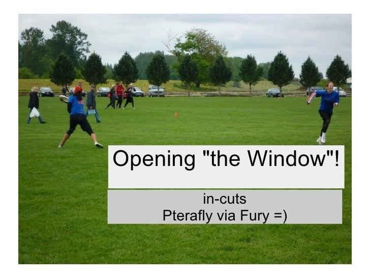 "Opening ""the Window""! in-cuts Pterafly via Fury =)"