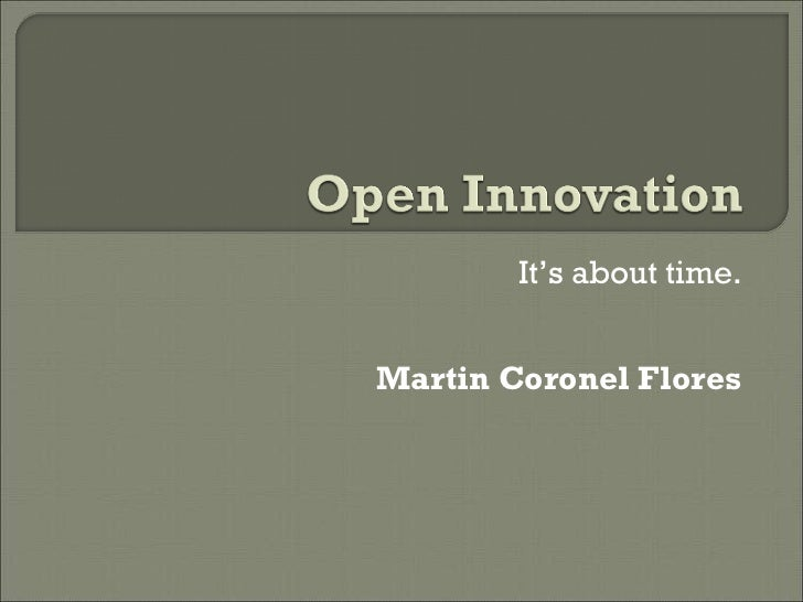 It's about time. Martin Coronel Flores