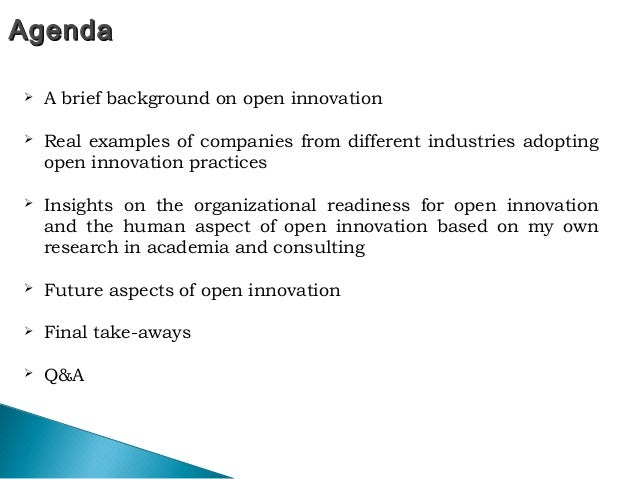 Open Innovation Past Present And Future Aspects