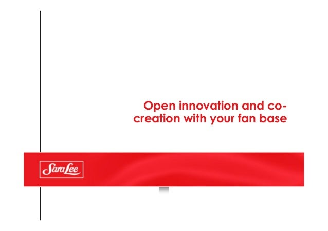 Open innovation and co- creation with your fan base
