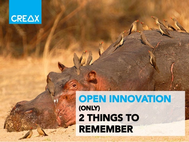 I 1	    OPEN INNOVATION (ONLY) 2 THINGS TO REMEMBER