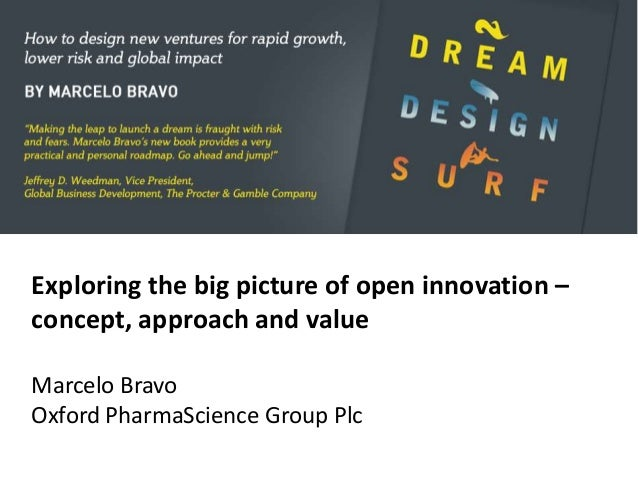 Exploring the big picture of open innovation –concept, approach and valueMarcelo BravoOxford PharmaScience Group Plc