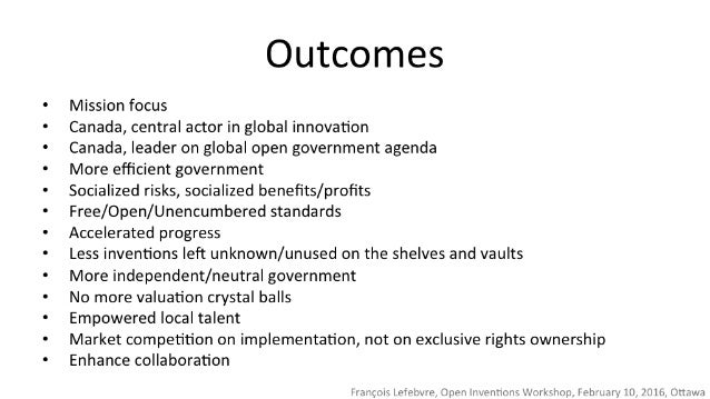 Outcomes  Mission focus  Canada,  central actor in global innovation  Canada,  leader on global open government agenda  Mo...