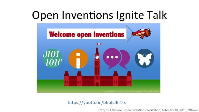 Open Inventions Ignite Talk  Welcome open inventions I Q