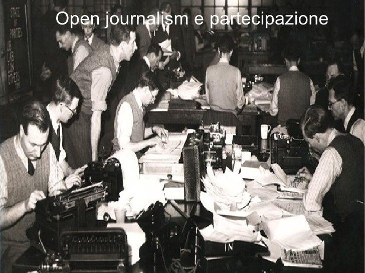 Open journalism e partecipazione