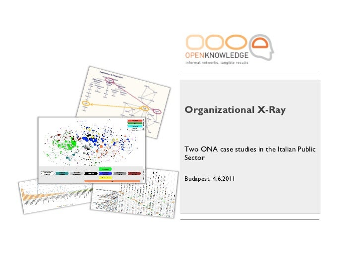 Organizational X-RayTwo ONA case studies in the Italian PublicSectorBudapest, 4.6.2011