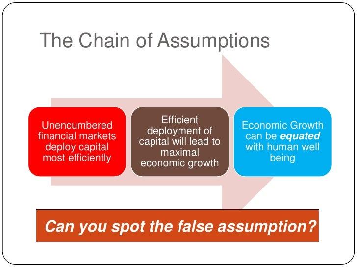 The Chain of Assumptions<br /> Can you spot the false assumption?<br />