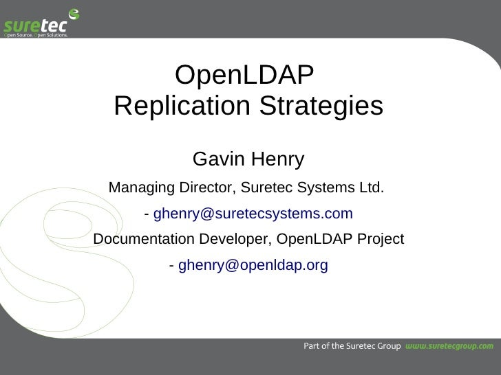 OpenLDAP Replication Strategies