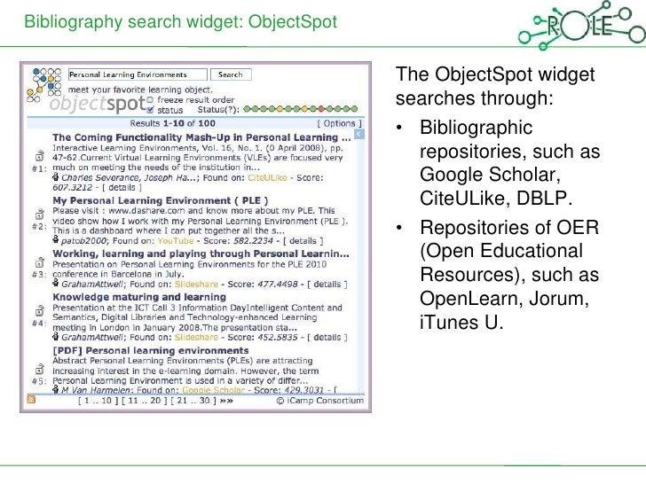 Bibliography search widget: ObjectSpot                                         The ObjectSpot widget                      ...