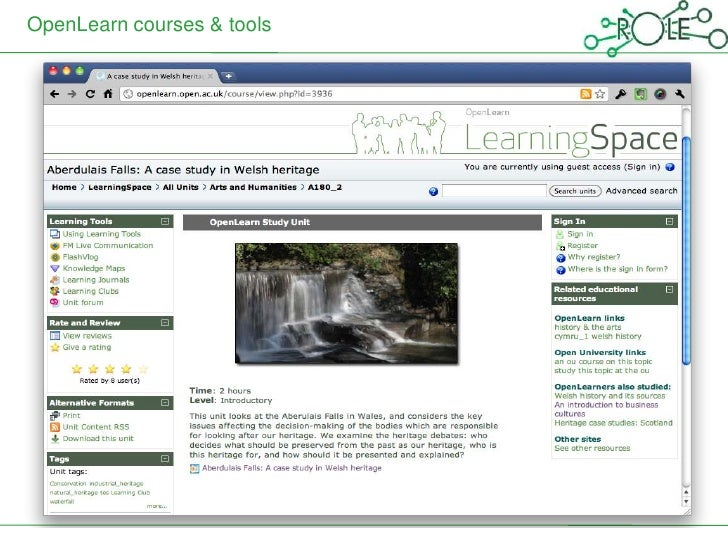 OpenLearn courses & tools