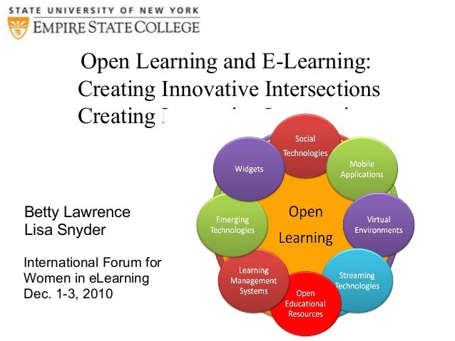 Open Learning and E-Learning: Creating Innovative Intersections Creating Innovative Intersections Betty Lawrence Lisa Snyd...