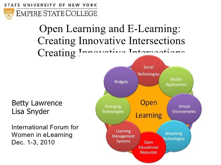 Open Learning and E-Learning:  Creating Innovative Intersections Creating Innovative Intersections <ul><li>Betty Lawrence ...