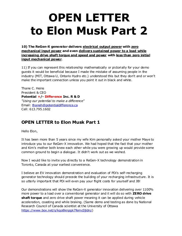 Open letter to elon musk part 2 4 solutioingenieria