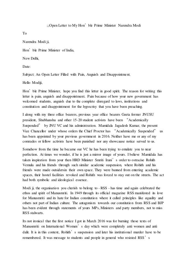 ;;;Open Letter to My Hon'ble Prime Minister Narendra Modi To Narendra Modi ji, Hon'ble Prime Minister of India, New Delhi,...