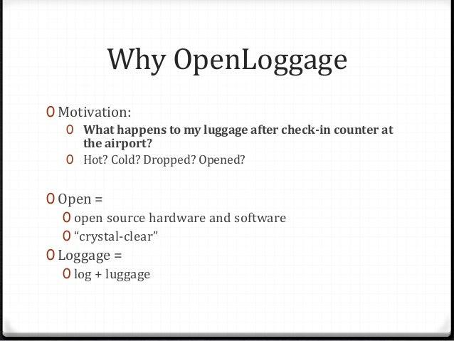 OpenLoggage - open source data logging platform Slide 2