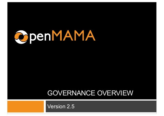 GOVERNANCE OVERVIEW Version 2.5