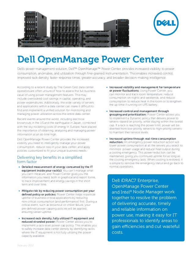 Dell Open Manage Power Center Brief