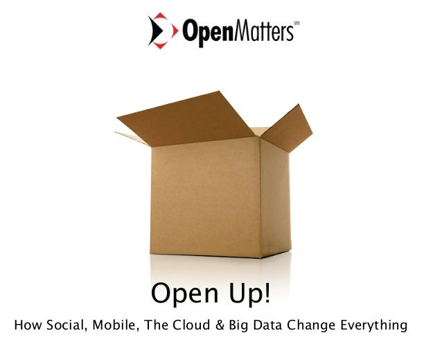 Open Up!  How Social, Mobile, The Cloud & Big Data Change Everything  Barry Libert, CEO Open Matters