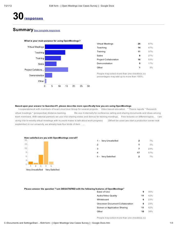 7/21/12                                      Edit form - [ Open Meetings Use Cases Survey ] - Google Docs          30     ...