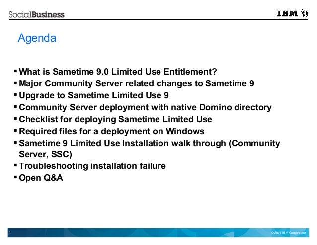 open mic ibm sametime 9 limited use server, Presentation templates