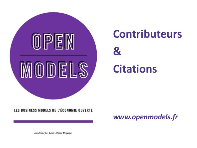 Contributeurs  &  Citations  www.openmodels.fr