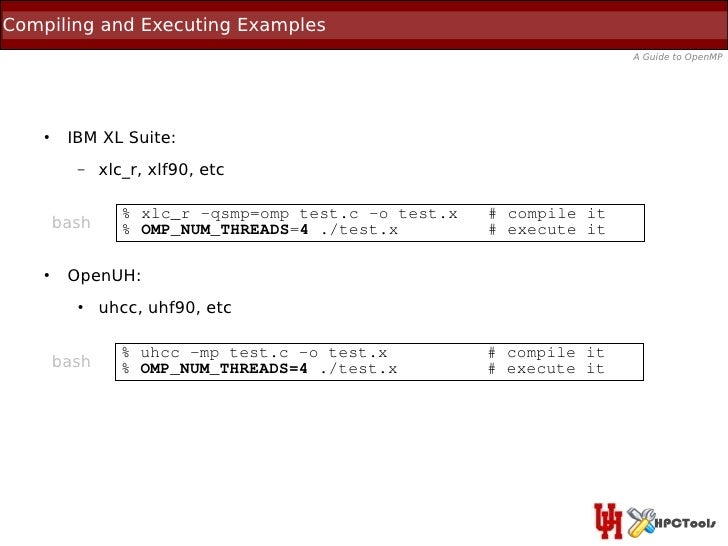 Compiling and Executing Examples                                                                      A Guide to OpenMP   ...